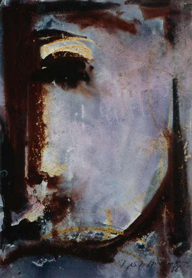 Ölgemälde von Klaus Bertelsmann - Archaischer Kopf