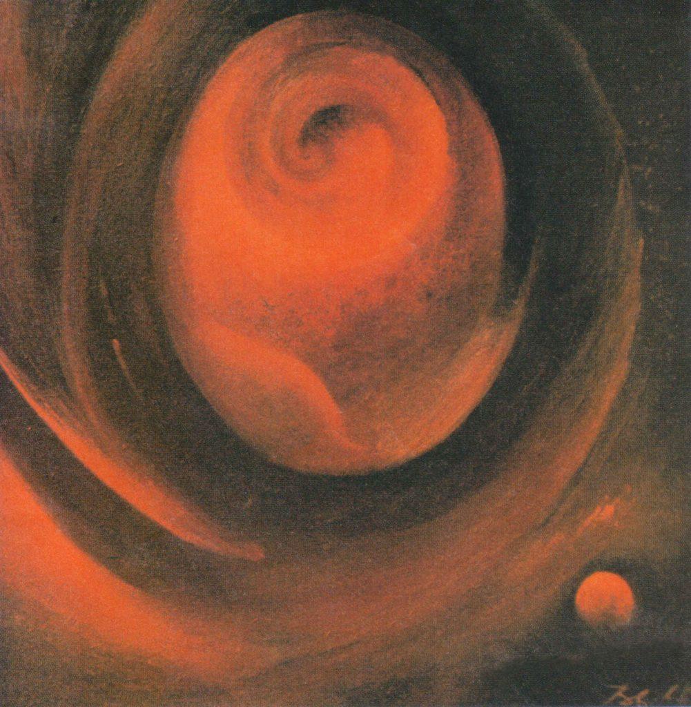 Urformen - Öl, 60x60 1986 Besitz Mueller/Bonn - Zyklus der Weltraumbilder
